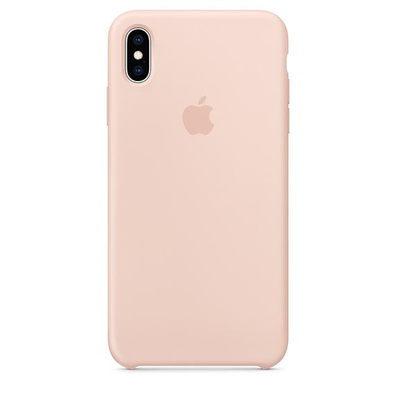 Cиликоновый чехол Apple для iPhone X/10 (розовый)