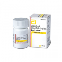Ледвиклеар (Ледипасвир 90мг + Софосбувир 400 мг) Эббот Индия | Ledviclear Tablets Abbott India (Ledipasvir 90mg & Sofosbuvir 400mg)