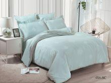 Комплект постельного белья Лен Soft cotton жаккард   евро  Арт.31/016-SC