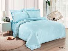 Комплект постельного белья Лен Soft cotton жаккард   евро  Арт.31/019-SC