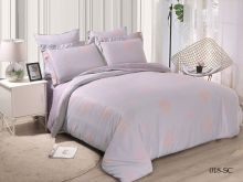 Комплект постельного белья Лен Soft cotton жаккард   семейный  Арт.41/018-SC
