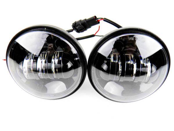 Круглая врезная противотуманная фара 4,5 дюйма серия BLACK (комплект 2 шт.)