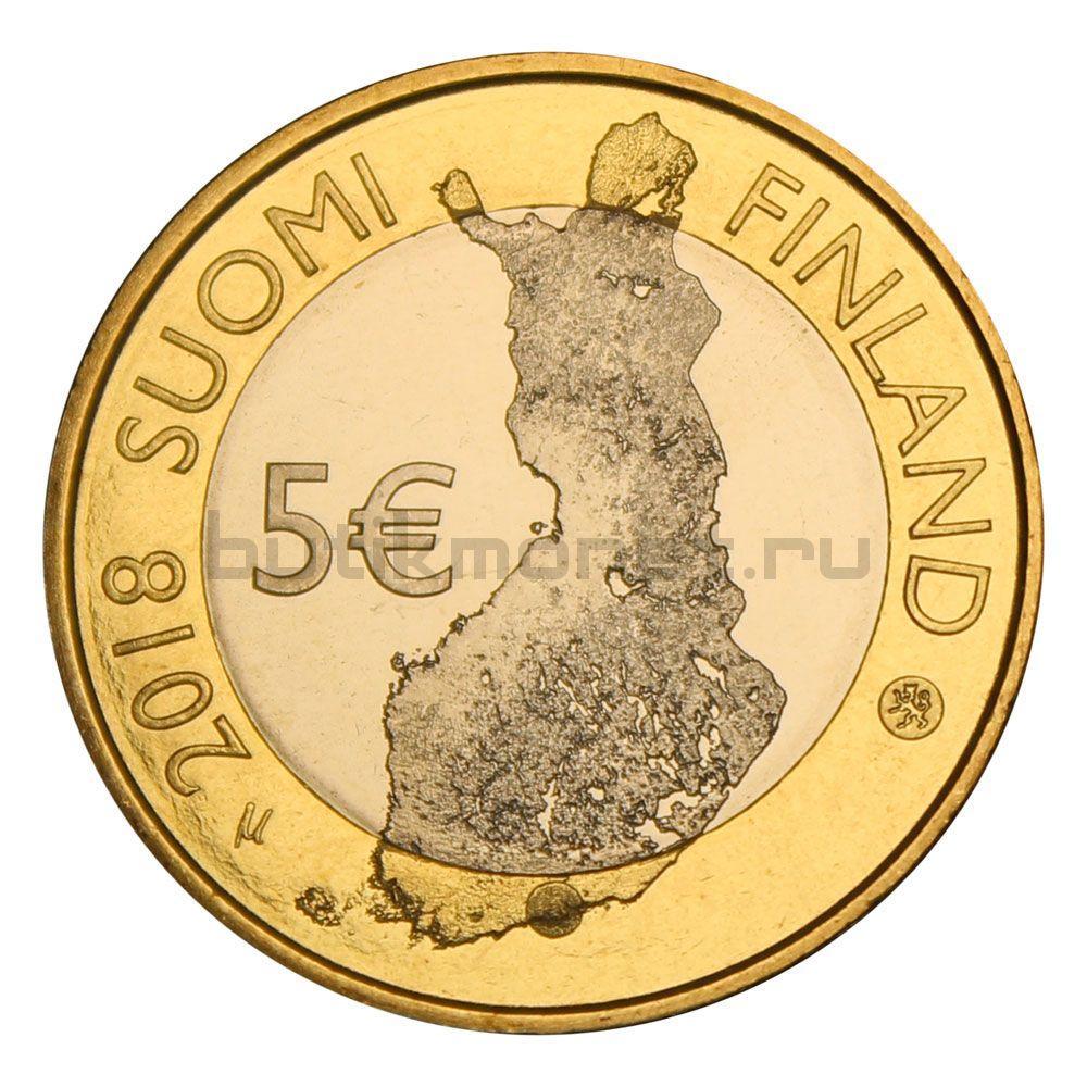 5 евро 2018 Финляндия Национальный парк Порвоо (Финский пейзаж)