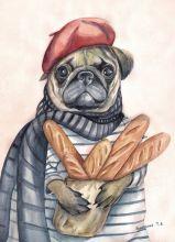Почтовая открытка Букет багетов для любимой