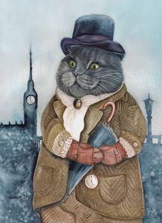Почтовая открытка Лондонский денди