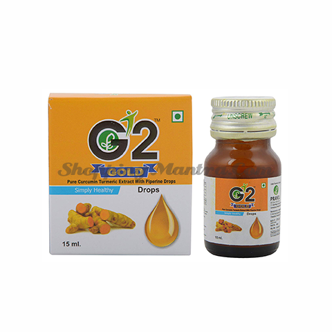 Капли G2 Gold (экстракт турмерика & пиперин) Пранил Натурал | Pranil Natural G2 Gold Pure Curcumin Turmeric Extract With Piperine Drops