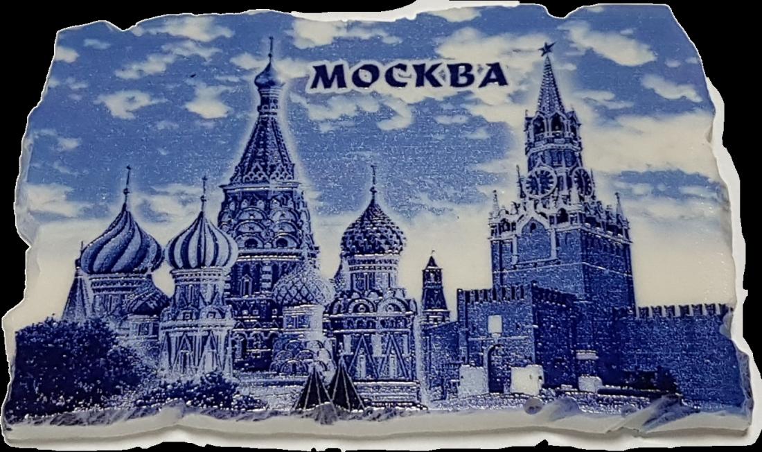 Магнит Москва Гжель