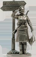 Военная регулировщица, ефрейтор Красной Армии. 1945 г. СССР (олово)