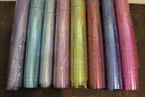"Пленка PVC ""Глиттер, хамелеон"", 0,5мм (1уп = полоса 30см*120+-2см)"