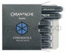 Картридж Caran d'Ache Chromatics 6шт./уп. Idyllic blue 8021.140