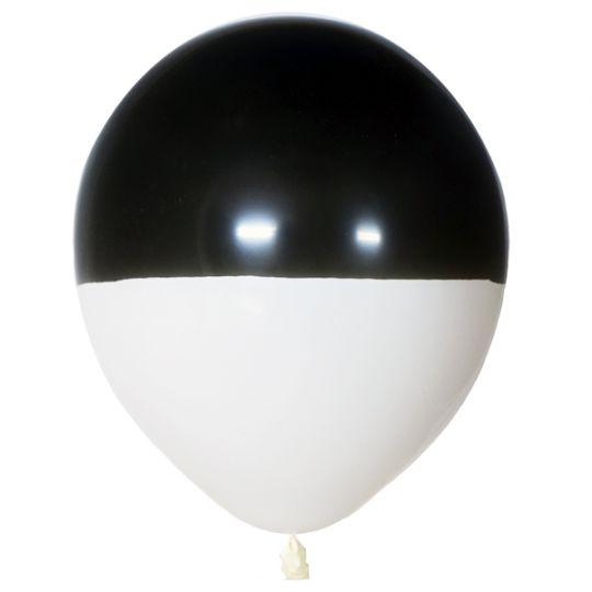 Черно-белый двухцветный латексный шар с гелием