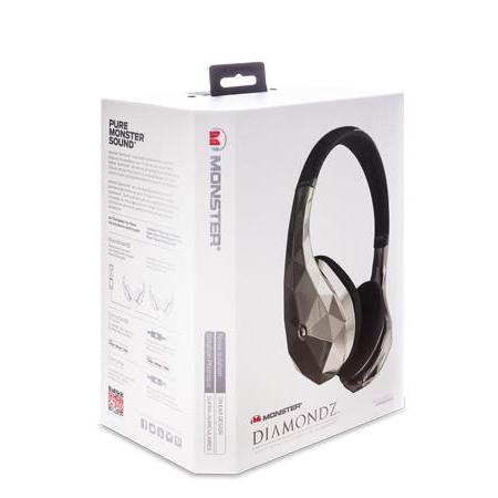 Наушники с микрофоном Monster DiamondZ 137014-00 (Black Chrome) On-Ear