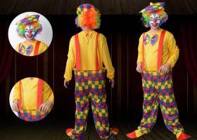 Костюм клоуна аниматора мужской с подтяжками