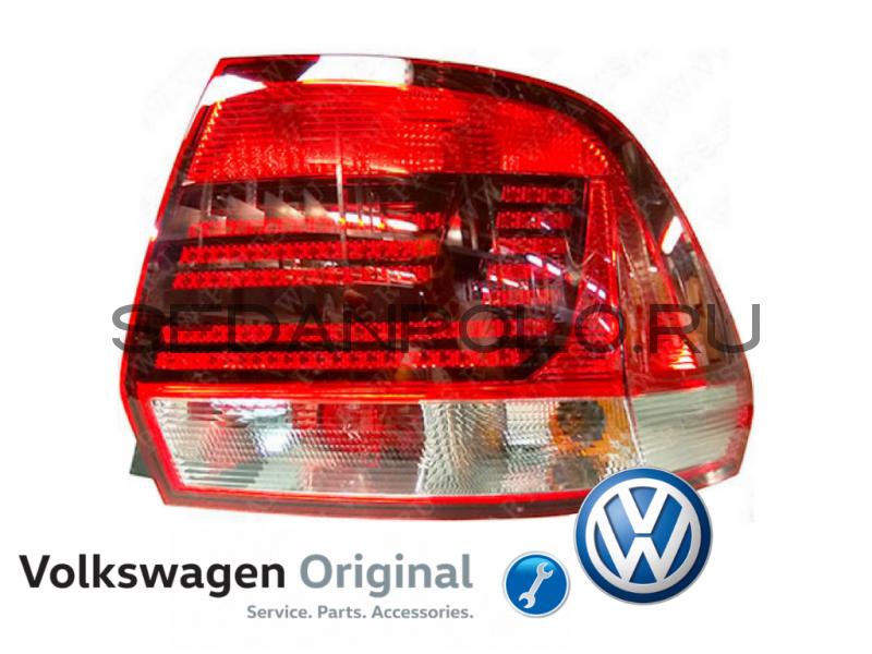 Фонарь задний правый VW POLO sedan (VAG) 2015-
