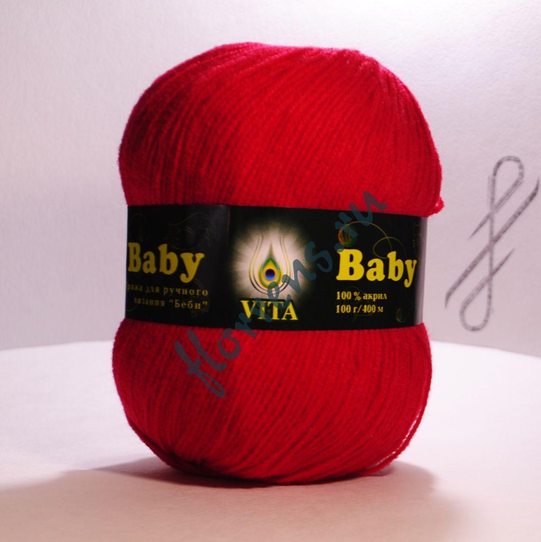 Пряжа Baby / 2893 ярко-красный