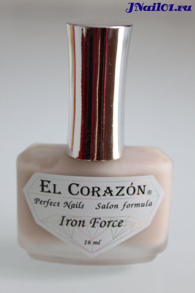 El Corazon Iron Force (Железная сила- матовый укрепитель ногтей) №432, 16 мл