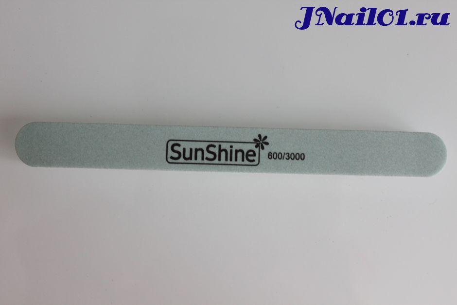 Sunshine, двухсторонняя пилка для полировки ногтей, 600/3000 грит