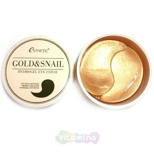 Esthetic House Гидрогелевые патчи для глаз с золотом и муцином улитки Gold & Snail Hydrogel Eye Patch