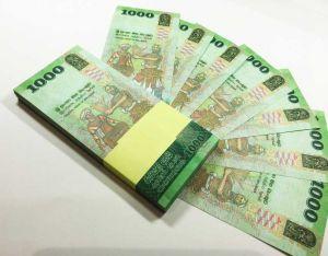 Шуточная пачка 1000 Шри-Ланских рупий