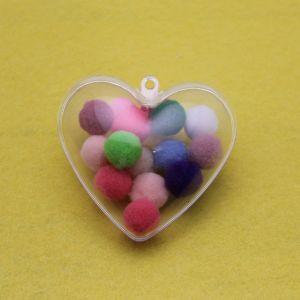 Сердце разборное с подвесом, акрил, 65*63мм (1уп = 5шт)