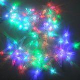 Гирлянда штора звезды 1х2 м разноцветный