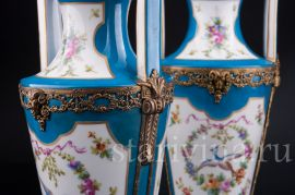 """Две вазы """"Райские птицы"""", Франция, 19 в."""