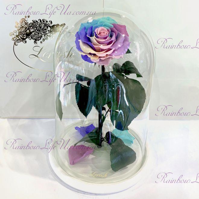 """Роза в колбе цветная 33 см """"Lux"""""""