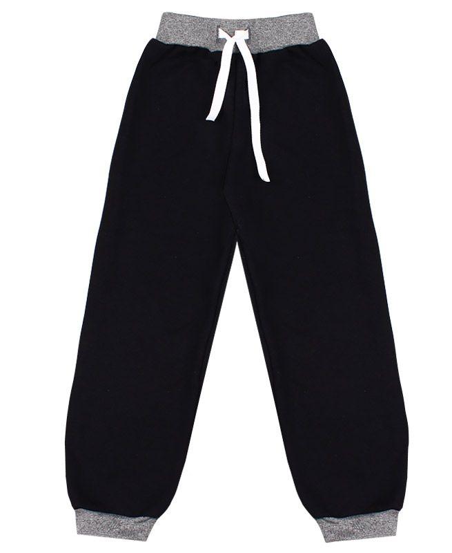Чёрные спортивные брюки для мальчика