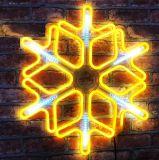 Снежинка из неона 60х60 см золотой