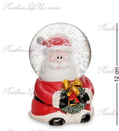 "Шар со снегом муз. с подсветкой ""Санта Клаус"""
