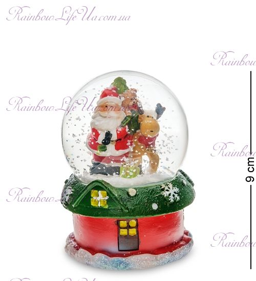 "Шар со снегом ""Санта и олень"""