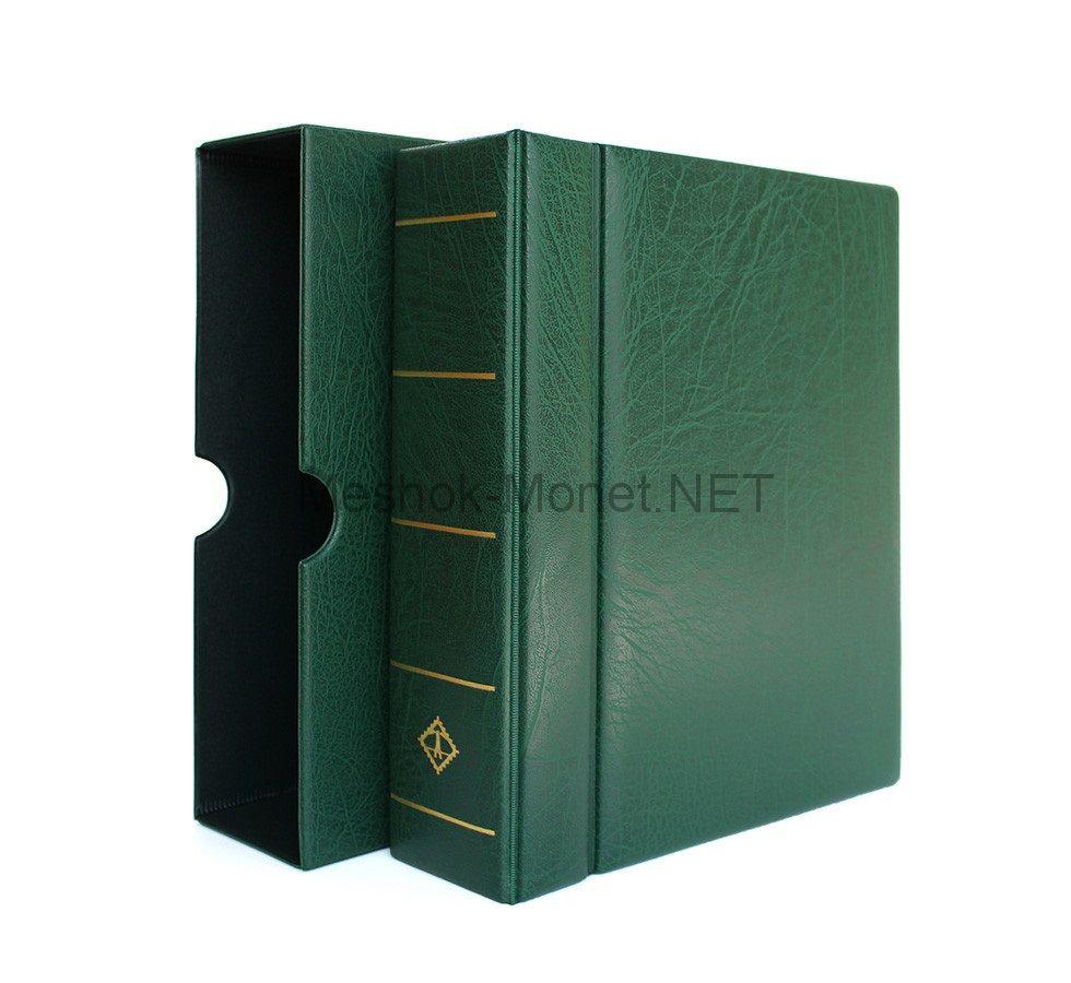 """Альбом для монет серии """"OPTIMA"""" без листов с защитной кассетой (зелёный)"""