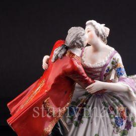 Страстный поцелуй, пара, Volkstedt, Германия, нач. 20 в.