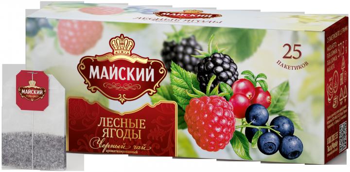 Чай Майский лесные ягоды 25пак*2г