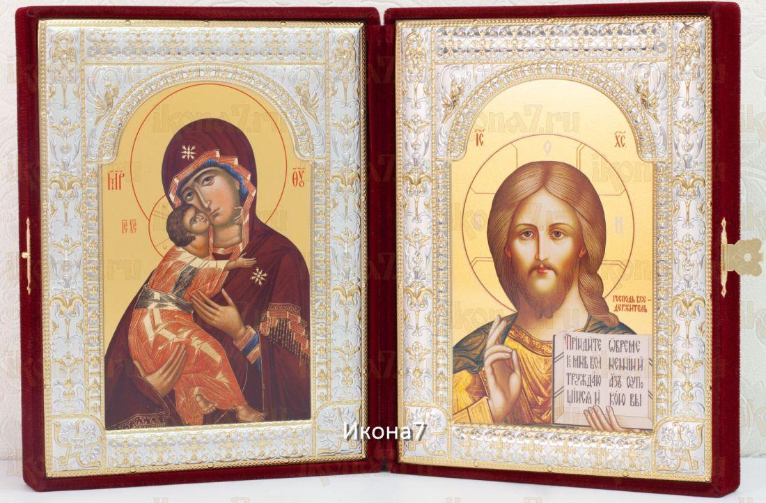 Складень Владимирская  Богоматерь и Господь Вседержитель иконы (40x26см)