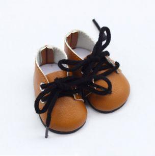Обувь для кукол - ботиночки 5 см (коричневые)