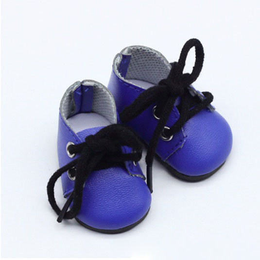 Обувь для кукол - ботиночки 5 см (синие)