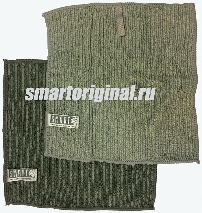 Smart Microfiber Салфетка ребристая 24 х 24 см серая/серая 2 шт.