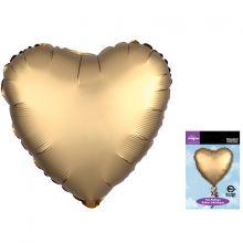 "Сердце, золото, сатин, люкс  18""/ 46 см, Anagram"