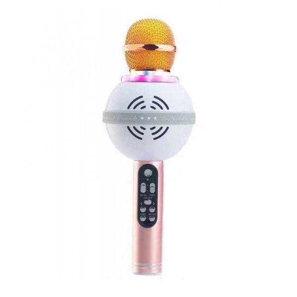 Беспроводной Караоке-Микрофон WS-878, Золотисто-Розовый