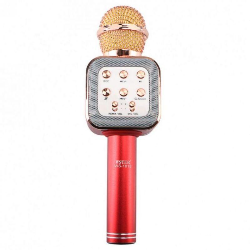 Беспроводной Караоке Микрофон WS-1818, Красный