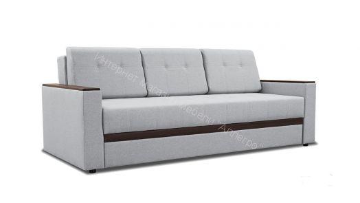 Диван «Манхэттен» Рогожка Romeo 13 серый, кожзам Neo 12 коричневый
