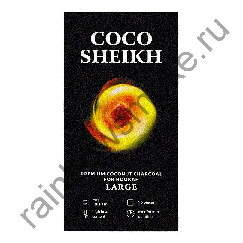 Уголь для кальяна Coco Sheikh Large (96 шт)