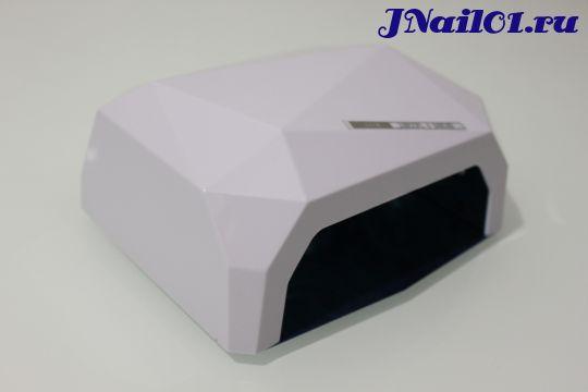 """UV-LED Лампа 36W """"Crystal""""  (10,20,30сек) Белая"""
