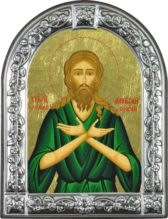 Икона Святой Алексей, человек Божий (Греция, 13х10 см.)