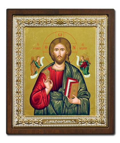 Икона Христос Вседержитель (Греция, 30x27 см.)