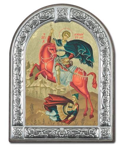 Икона Святой Димитрий Солунский (Греция, 29х21  см.)