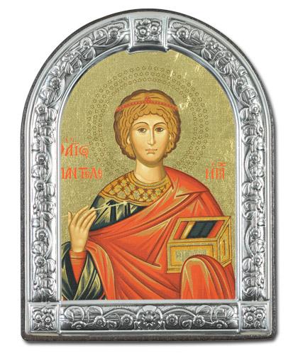 Икона Великомученик Пантелеймон (Греция, 13х10 см.)