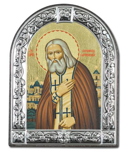 Икона Преподобный Серафим Саровский (Греция, 13х10 см.)