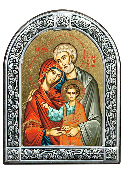 """Икона """"Святое семейство"""" (Греция, 13х10 см.)"""